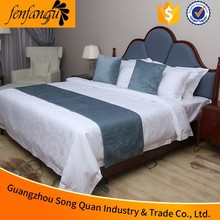 2016 hot sale 100% cotton embroidery design bed cover sets/wholesale hotel bedding set