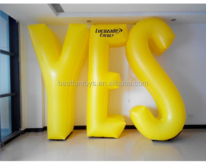 customized giant inflatable pvc letters display inflatable publicity