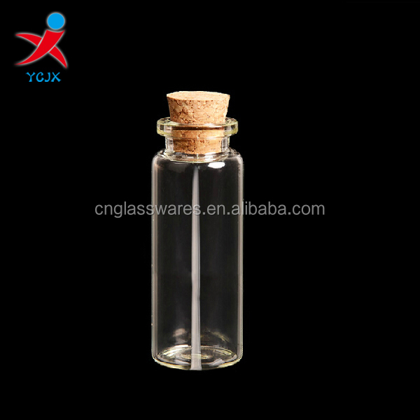 SMALL GLASS BOTTLE WITH CORK/MINI GLASS BOTTLE