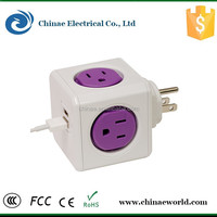 Fast Shipment New Power Socket USA Power Strip 4 Outlets Portable USB Power Cube Socket In Stock
