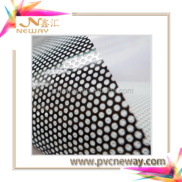 Printable Clear Perforated Self Adhesive Vinyl /Window Film One Way Vision Vinyl /ECO Solvent Printer Size:1.27x50M/Roll