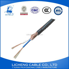 RVVP 2 core shielded cable 2*1.5mm2 copper conductor pvc cable