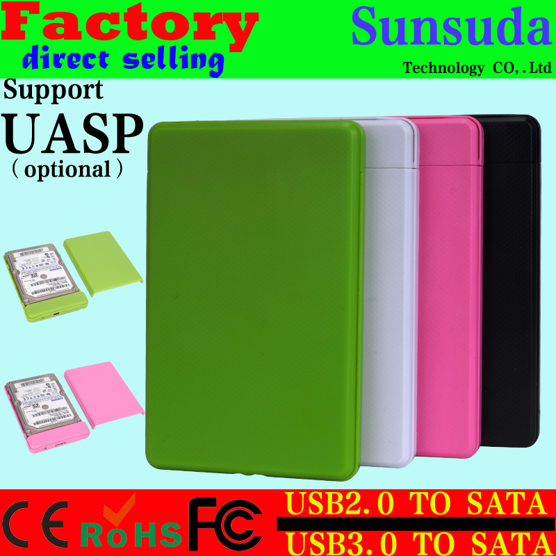 2016 NEW Arrival Tool Free USB 3.0 Hard Drive Disk HDD Enclosure 2.5 usb2.0 to sata External hard drive case for labtop HDD