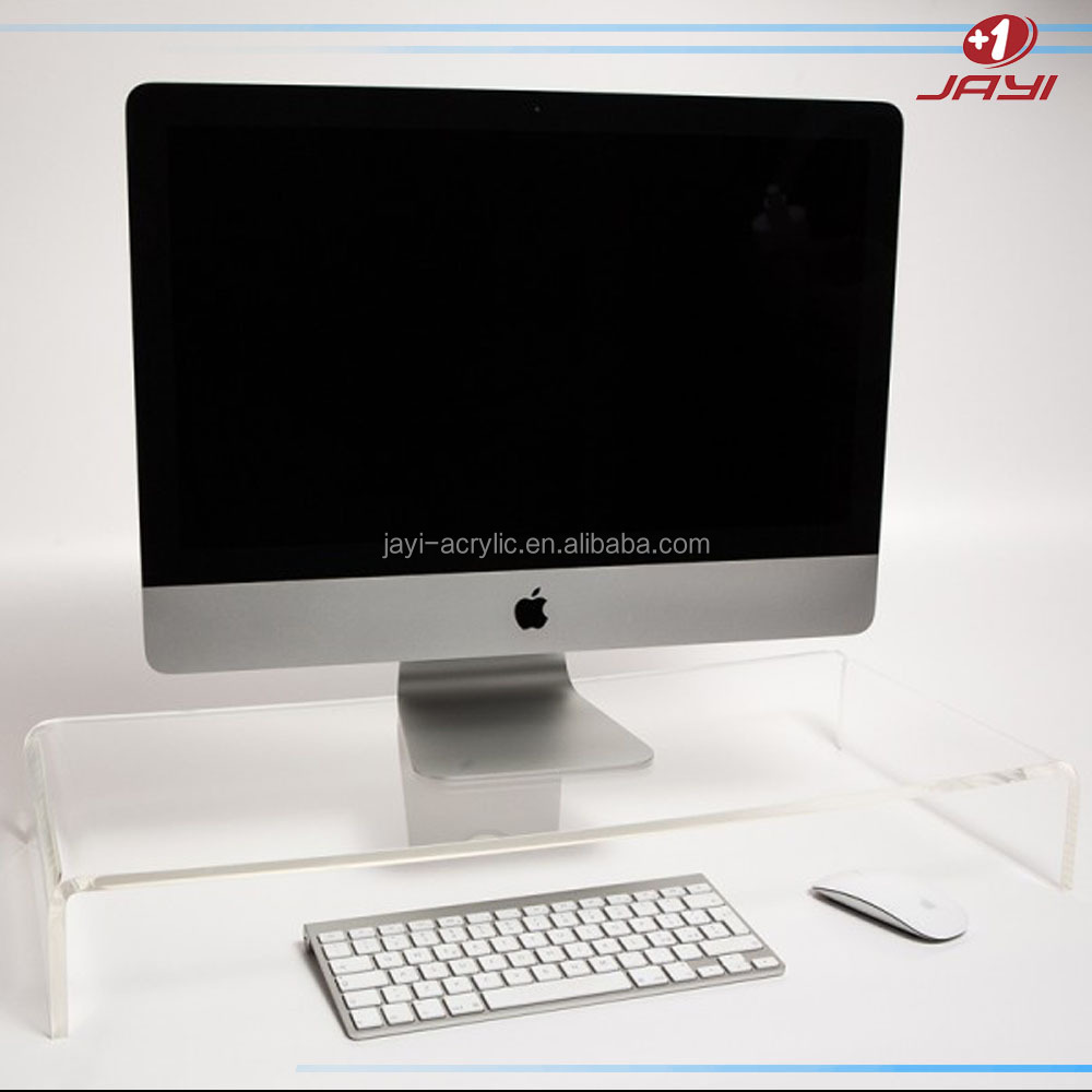 Modern luxery clear acrylic computer monitor stand