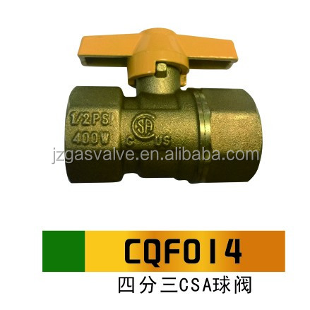 "High Quality With CSA Approved Brass Ball Valve For Gas Npt 3/4"" Female Gas Ball Valve CQF014 With Competitive Price"