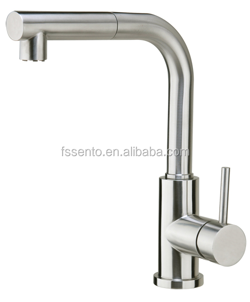 C-64 Stainless steel european framless kitchen classic pull out faucet