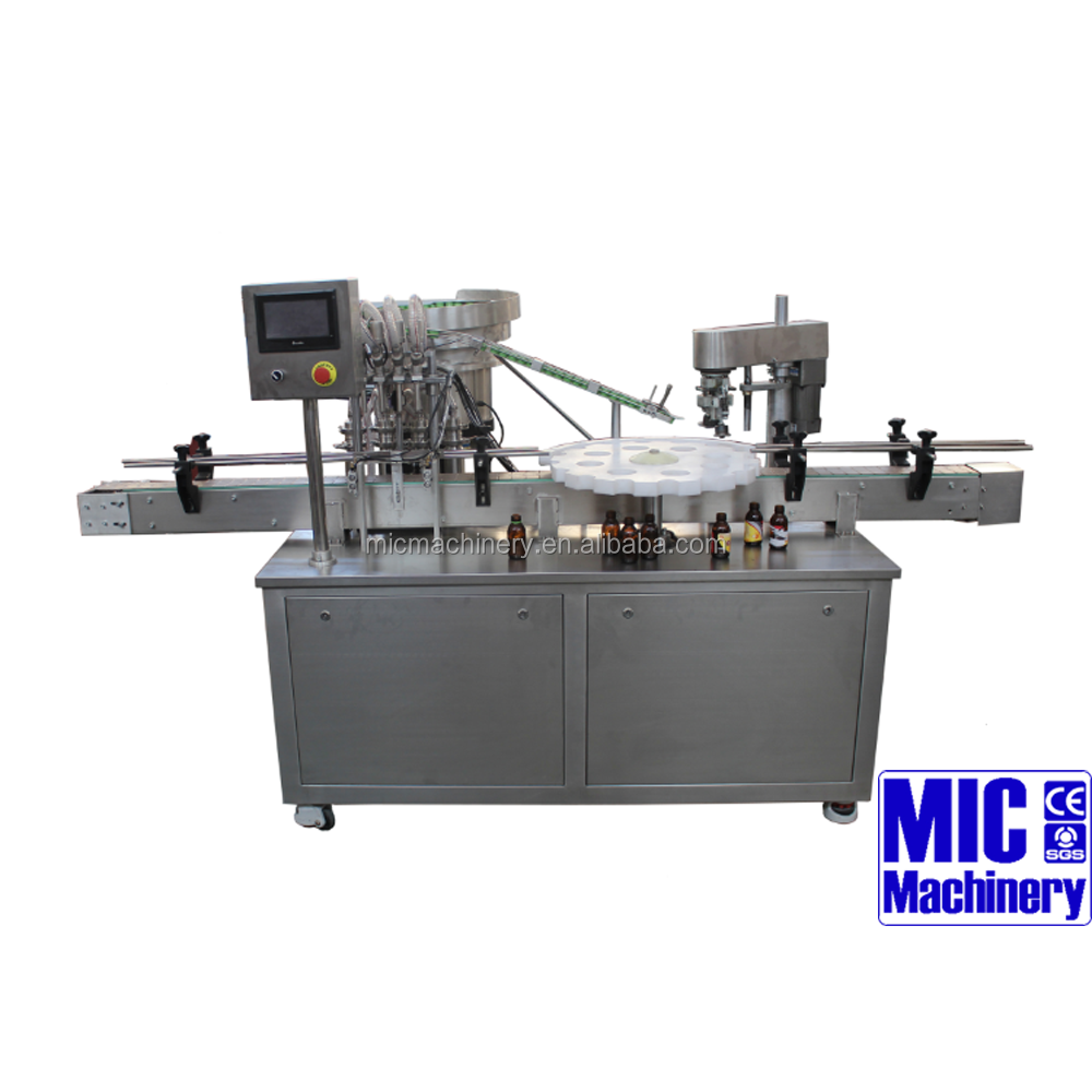 MIC-L45 cosmetic cream/shampoo/liquid soap filling and capping machine for bottle 4 heads straight line filling machine