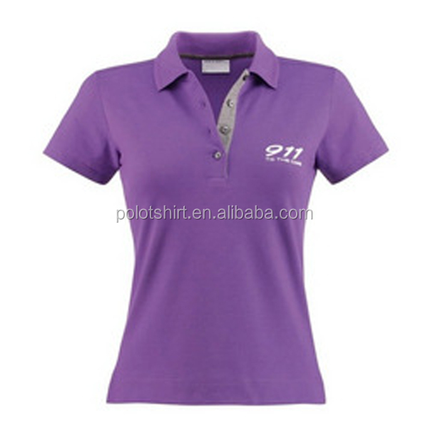 Ladies colorful cute new design polo t shirt buy new for Cute polo shirts for women