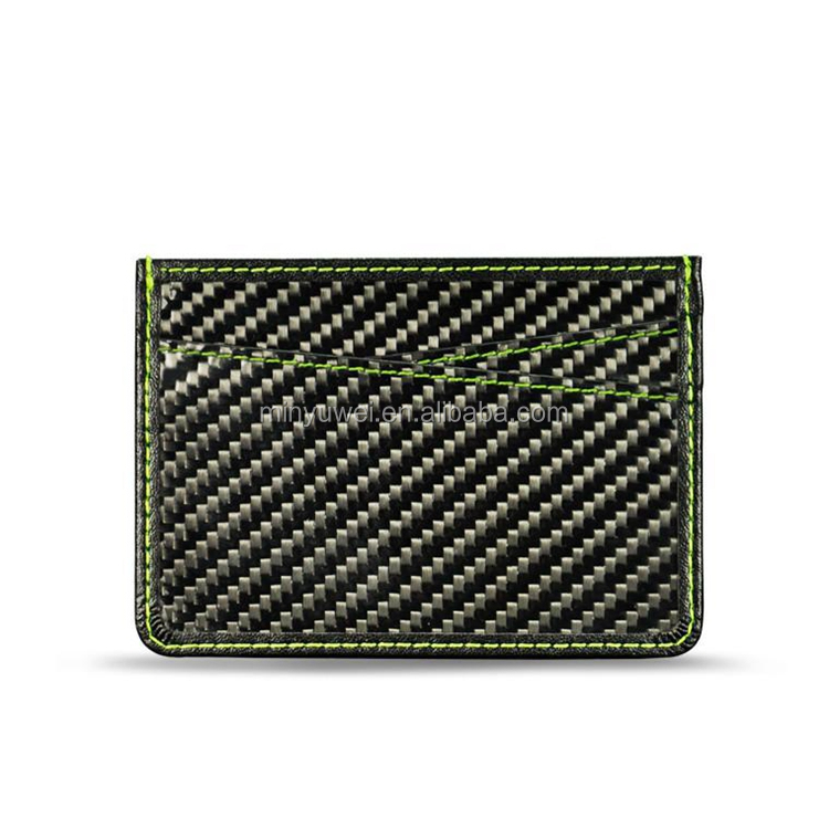 thinnest carbon fiber leather card holder wallet Factory custom wholesale