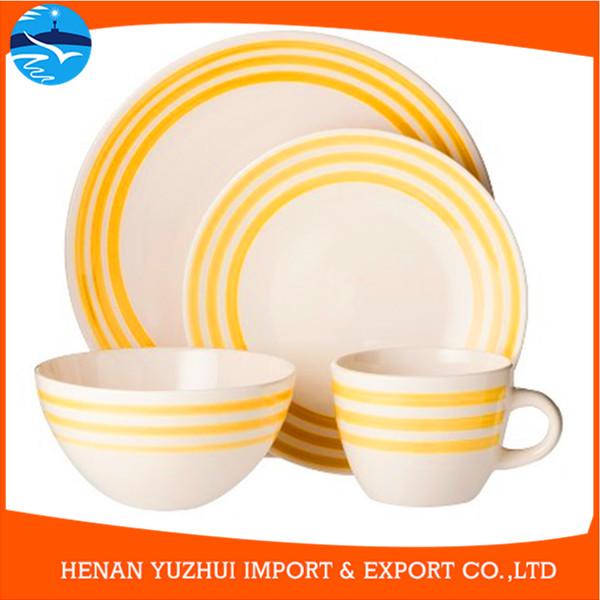 custom ceramic dinnerware for 4, 16 pcs handpainted dinnerware made in china, dinnerware oem