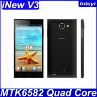 OTG Mobile Phone iNew V3 5 Inch MT6582 Quad Core Android 4.2 RAM 1GB ROM 16GB 5/13MP Good Camera GSM WCDMA GPS WIFI