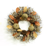 thanksgiving arts and crafts decorated grapevine artificial holly wreath