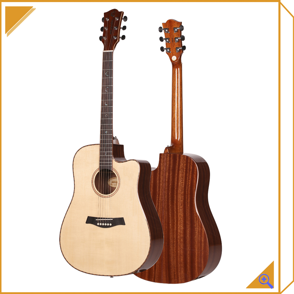 wooden acoustic guitar wholesale left handed
