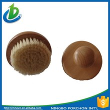 Wooden top Round wooden brush