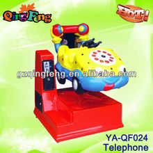 Child club telephone car kiddy ride game machines for kids 2-4 years old