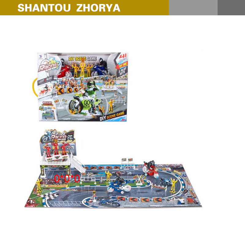 Zhorya 41 pcs intelligence series racing game scene 3D puzzle toy