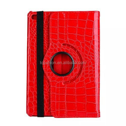 Rotating case for ipad mini 4 flip stand case crocodile leather case cover