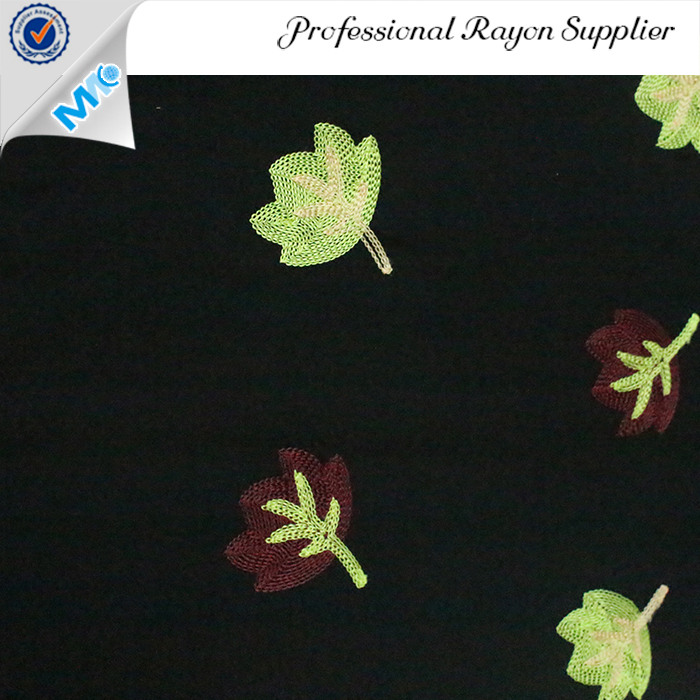 flower embroidered dress fabric