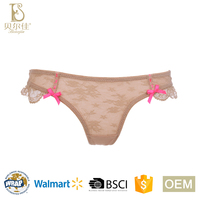 OEM fancy design sexy ladies lace thongs panties for women girls contrast color briefs underwear
