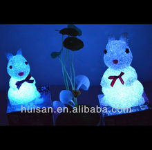 battery led rabbit night light/outdoor rabbit decoration/beautiful easter rabbit decorations