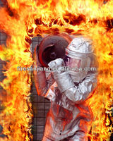 Aluminized firefighting clothing