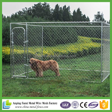 Large outdoor galvanized chain link lowes dog kennels and runs