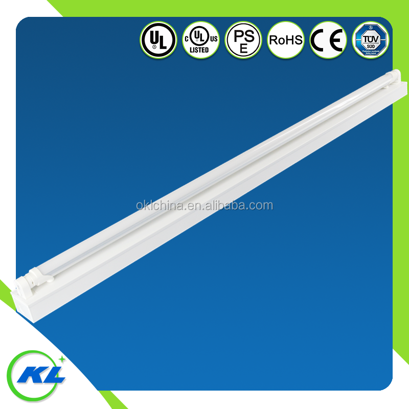 Alibaba gold supplier UL/CUL/CE SMD 2835 led batten light 1*36w online 4ft with color package stick customer logo