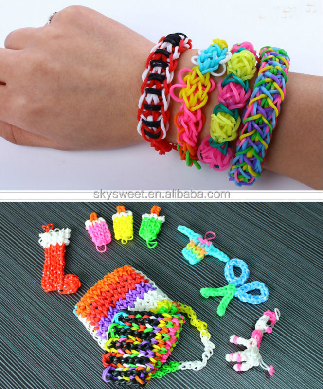 5000 pcs colorful rubber loom bands kit