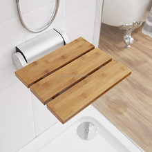 Steam shower wall mounted fold up shower seat in shower room