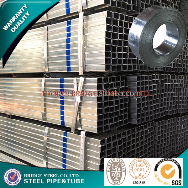 pre galvanized rectangular and square steel pipe for building materials with best price