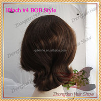 High Quality Varied Texture Cheap can be Dyed Raw European human Hair BOB jewish wig kosher wig