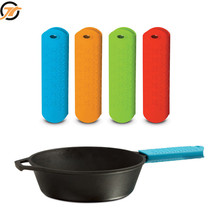Silicone Pot Pan Handle Holder Sleeve Cover Grip waterproof silicone foam hand grip strengthen for Kitchen Utensil New