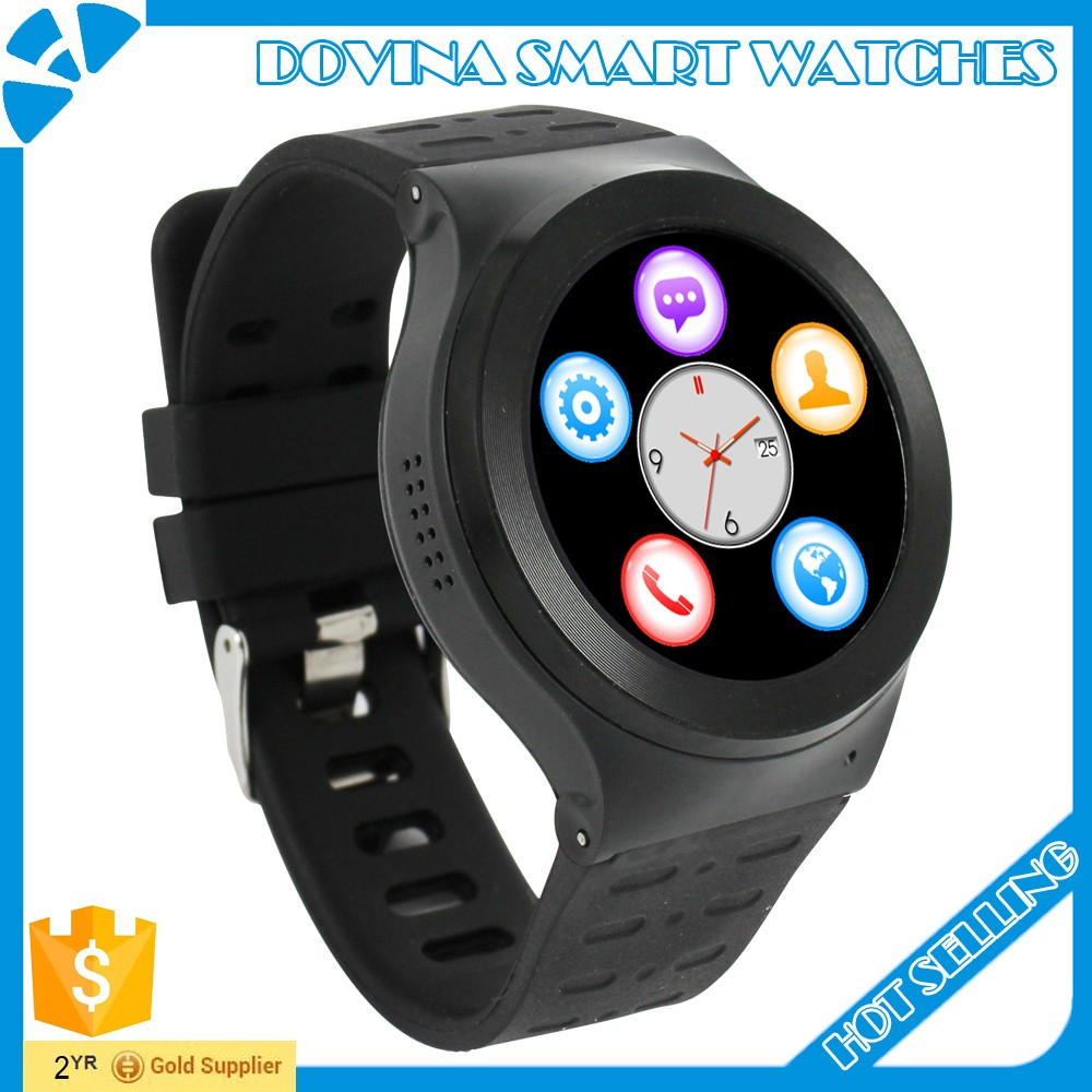 <strong>100</strong>% original circle 3g android phone smart <strong>watch</strong> smartwatch 1.3inch ips android 5.1 with gps wifi sim heart rate
