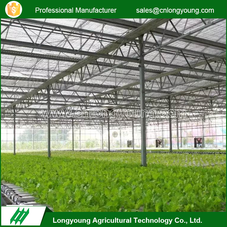 Factory custom aluminum gutter high intensity commercial glass greenhouse
