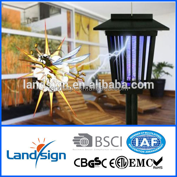 Solar powered rechargeable pest control solar mosquito killer lamp