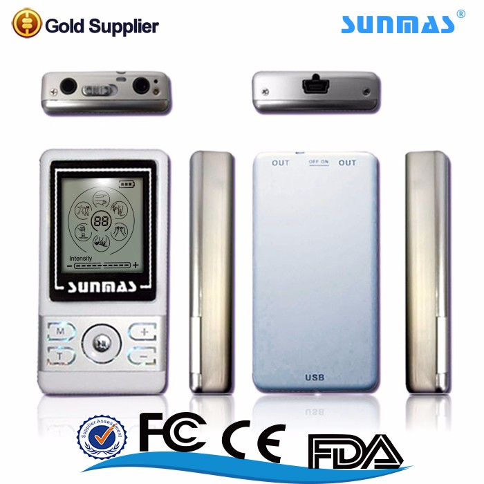 Sunmas Hot china products 6 channel output tens unit tens ems massager machine