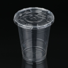 ZFCUP 12oz Clear Plastic PLA Cold Cup 100% Biodegradable