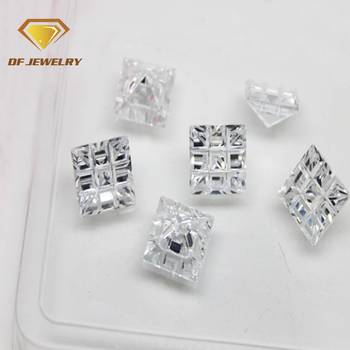 Square Cross Cut Genuine Cubic Zircon Stones And Gems For Jewelry Making