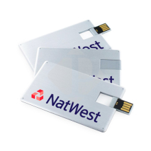 Low Price Pen Drive 4GB Aluminum Business Card USB with Logo Branded for Marketing