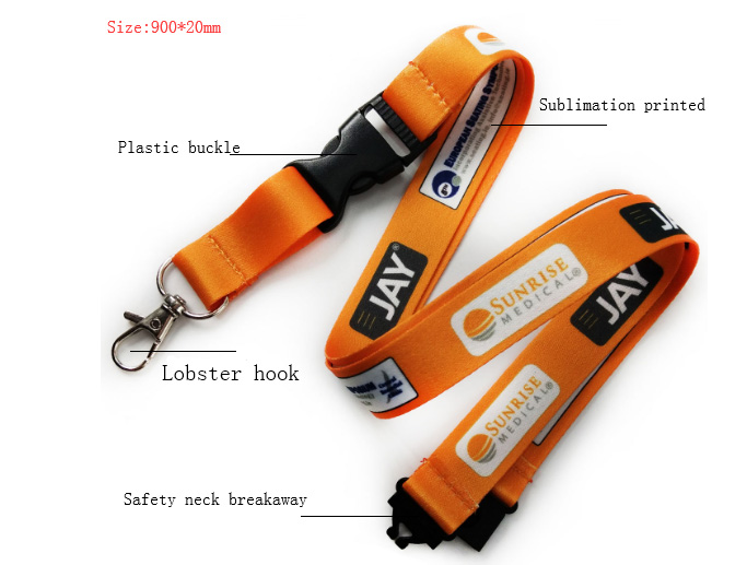 Cheap custom Personality design red commercial polyester lanyards