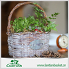 Natural materials and environmentally friendly wicker gift basket