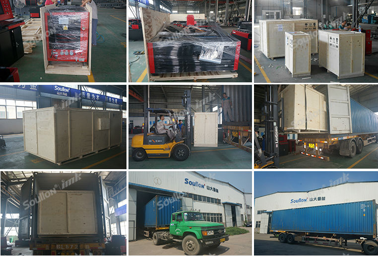 metal cutting laser machine packing and shipping