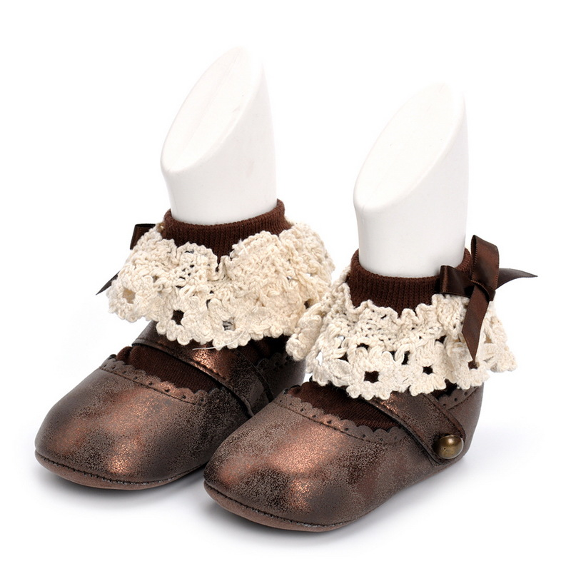 sweet lace designs Baby Girls fancy Boots Toddler Leather Baby Girls Bootis