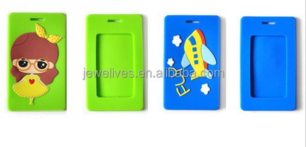 Business gift hard plastic pvc luggage tag