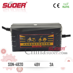 Suoer 48V High Power Smart Fast Charger Electric Bike Battery Charger