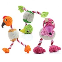 wholesale cute funny bird shape plush pet dog toy for small dogs