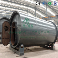 6th generation CE certified Q245R boiler steel horizontal fully automatic waste plastic / rubber pyrolysis reactor