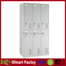 Good Price Knock Down Powder Coated Six Door Metal Storage Locker