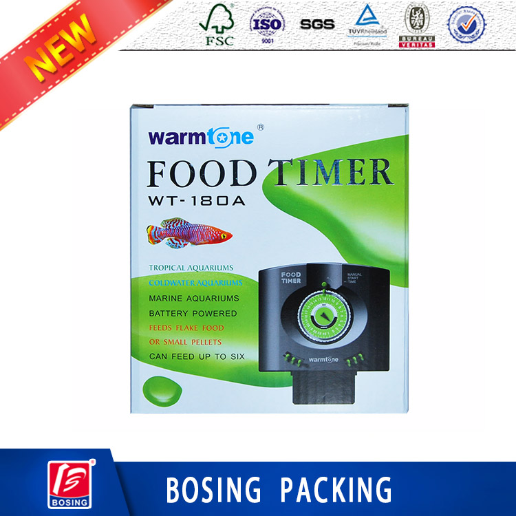 New style home appliance food timer corrugated packaging box with custom design