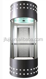 630kg VVVF ISO CE approved panoramic elevator / auto glass lift / elevator lift
